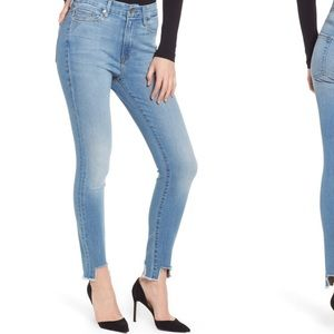 Good waist tunnel hem skinny jeans